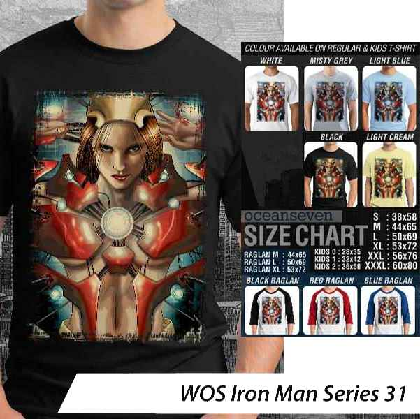 Kaos Iron Man World of Superhero – Iron Man Series